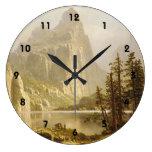 Bierstadt Albert Merced River Yosemite Valley Round Wallclocks