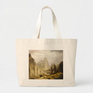 Bierstadt Albert Merced River Yosemite Valley Large Tote Bag