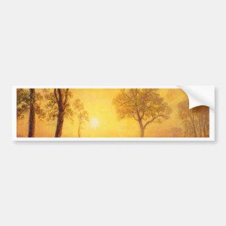 Bierstadt Albert Sunset on the Mountain Bumper Sticker
