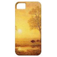 Bierstadt Albert Sunset on the Mountain iPhone 5 Covers