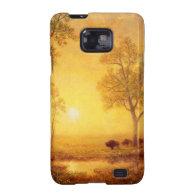 Bierstadt Albert Sunset on the Mountain Galaxy SII Case