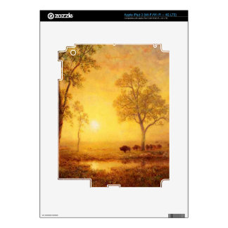 Bierstadt Albert Sunset on the Mountain Decal For iPad 3