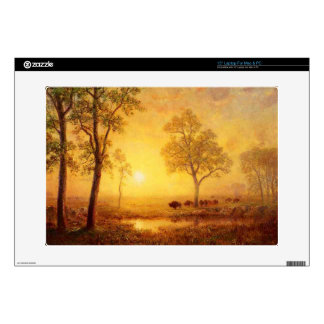 Bierstadt Albert Sunset on the Mountain Decal For Laptop