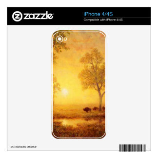 Bierstadt Albert Sunset on the Mountain Decals For The iPhone 4S