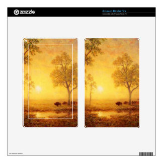 Bierstadt Albert Sunset on the Mountain Kindle Fire Decal
