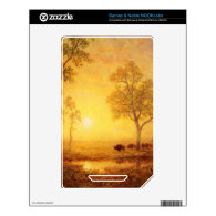 Bierstadt Albert Sunset on the Mountain Skin For The NOOK Color