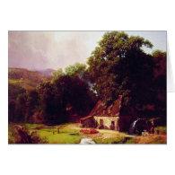 Bierstadt Albert The Old Mill Card