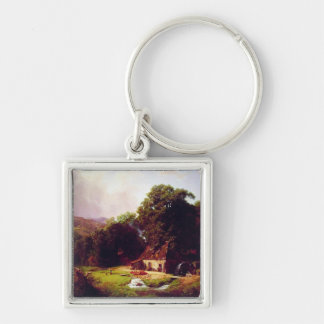 Bierstadt Albert The Old Mill Keychain