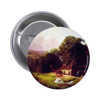 Bierstadt Albert The Old Mill Pinback Button