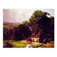 Bierstadt Albert The Old Mill Postcard