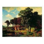 Bierstadt Albert, un molino rústico Tarjeta Postal