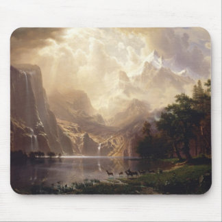 Bierstadt Among the Sierra Nevada Mountains Mouse Pad