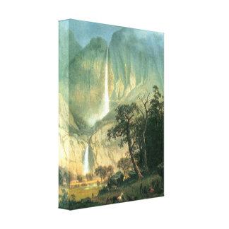 Bierstadt - Cho-Looke Yosemite Watterfall Canvas Print