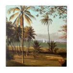 Bierstadt - escena de la Florida Azulejo Cuadrado Pequeño