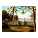 Bierstadt - escena de la Florida Postales