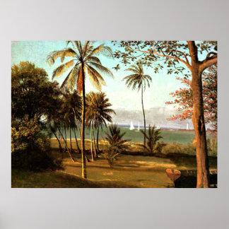 Bierstadt - escena de la Florida Póster