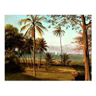 Bierstadt - escena de la Florida Tarjeta Postal