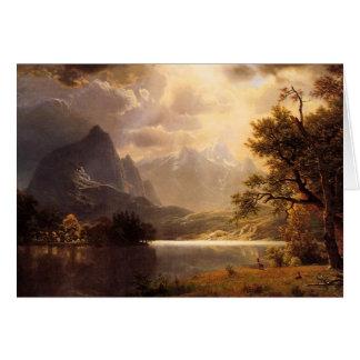 Bierstadt Estes Park Colorado Greeting Card