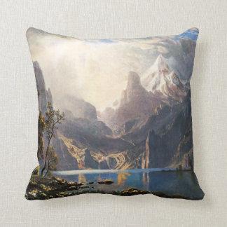 Bierstadt Lake Tahoe Throw Pillow