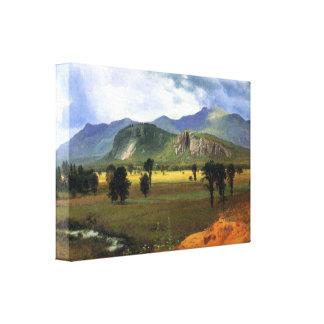 Bierstadt - montaña de la fosa, Intervale, nuevo H Impresiones En Lona Estiradas