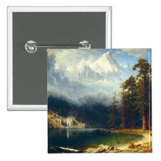 Bierstadt Mount Corcoran Button