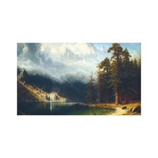 Bierstadt Mount Corcoran Canvas Print