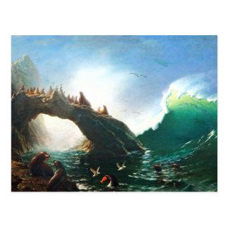 Bierstadt San Francisco sella la postal
