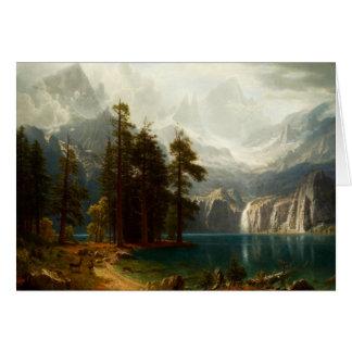 Bierstadt Sierra Nevadas Greeting Card