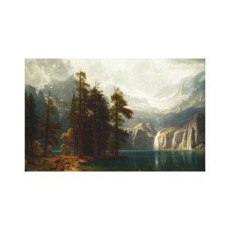 Bierstadt Sierra Nevadas Impresión De Lienzo