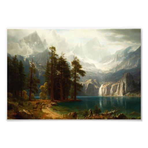 Bierstadt Sierra Nevadas Art Photo