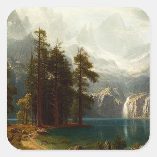 Bierstadt Sierra Nevadas Stickers