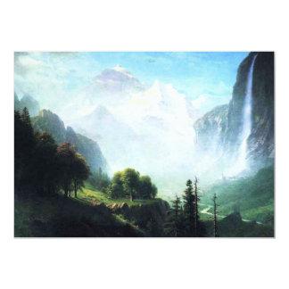 """Bierstadt Staubbach Falls Invitations 5"""" X 7"""" Invitation Card"""