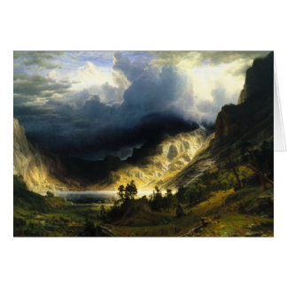 Bierstadt Storm in the Rocky Mountains Greeting Cards