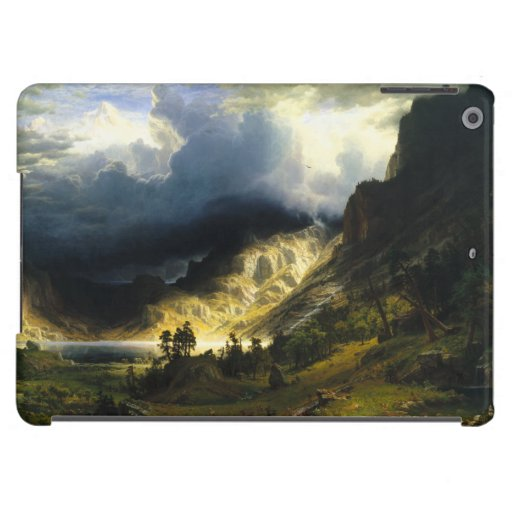 Bierstadt Storm in the Rocky Mountains Cover For iPad Air