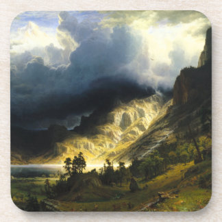 Bierstadt Storm in the Rocky Mountains Coasters