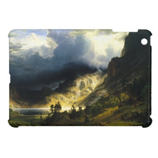 Bierstadt Storm in the Rocky Mountains iPad Mini Cases