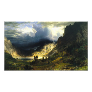 Bierstadt Storm in the Rocky Mountains Photo Print