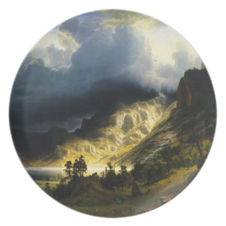 Bierstadt Storm in the Rocky Mountains Plate