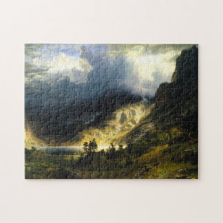 Bierstadt Storm in the Rocky Mountains Puzzle