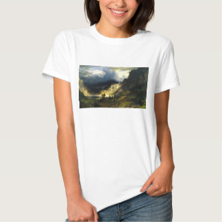 Bierstadt Storm in the Rocky Mountains T-shirt