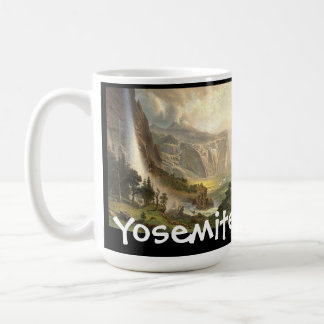 Bierstadt Waterfalls Yosemite Panorama Mug