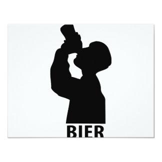 Biertrinker icon card