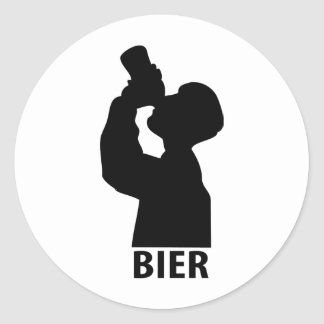 Biertrinker icon stickers