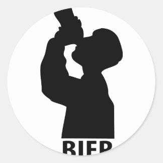 Biertrinker icon sticker