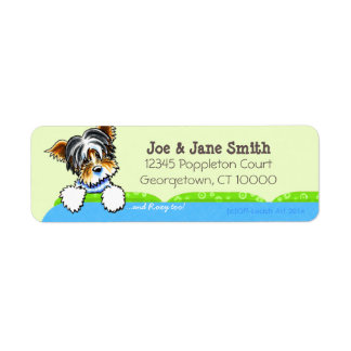 Biewer Yorkie Blue Couch Pet Name Personalized Label