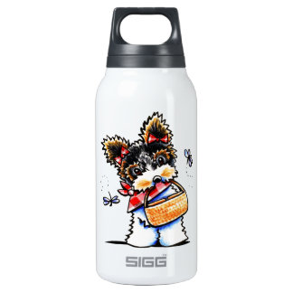 Biewer Yorkie Picnic Time Insulated Water Bottle