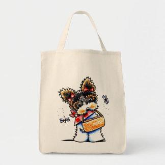Biewer Yorkie Picnic Time Tote Bag