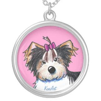 Biewer Yorkie Terrier Girl Necklace