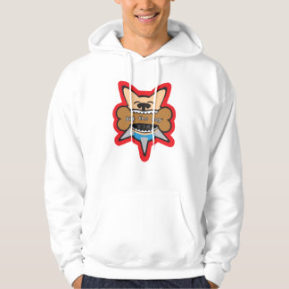 Biff Bites a bone then rockets out to space Hoodie