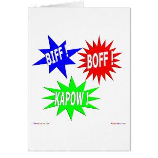 Biff Boff Kapow Greeting Card
